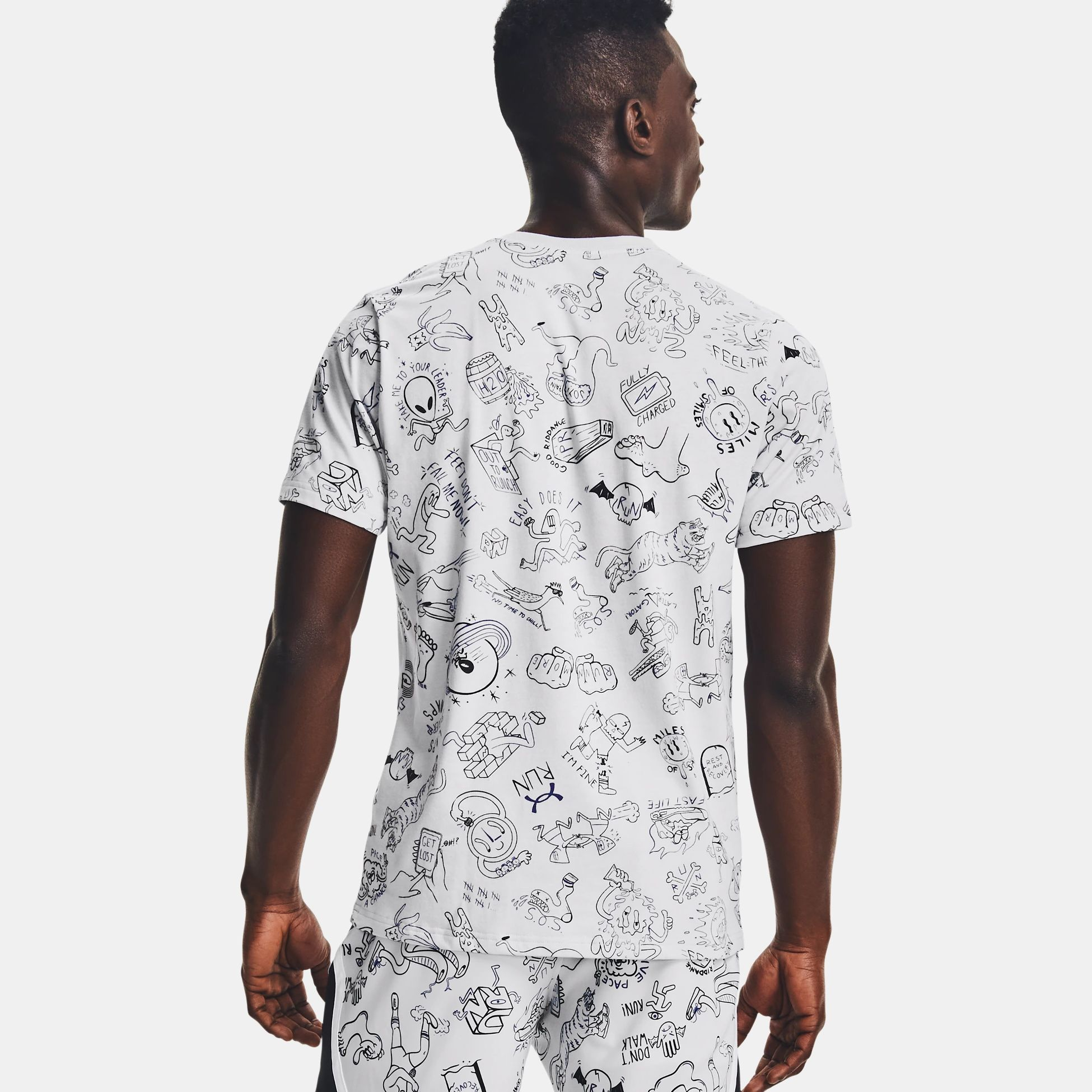 Clothing -  under armour Run Your Face Off Print 1484
