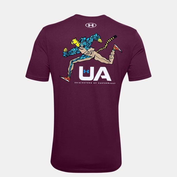 Clothing -  under armour UA Running Cheetah T-Shirt