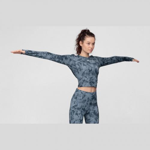 Clothing - 4f Tricou cu mânecă lungă de yoga pentru femei TSDLF010   Fitness