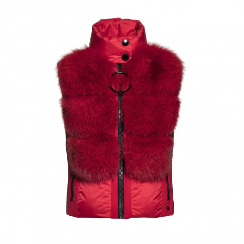 Ski & Snow Jackets - Goldbergh Adda Bodywarmer Real Fox Fur  | Snowwear