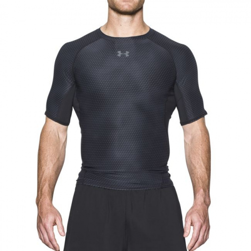 Clothing - Under Armour HeatGear Armour Printed Short Sleeve Compression Shirt 7477 | Fitness