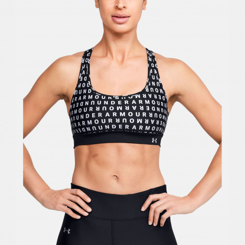 Clothing - Under Armour UA Armour Mid Crossback Print Mash Up Bra 1996 | Fitness
