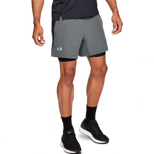 Clothing - Under Armour UA Qualifier Speedpocket 2in1 Shorts 6601 | Fitness