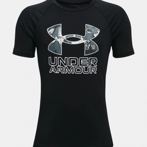 Clothing - Under Armour Boys UA Tech Hybrid Print Fill T-Shirt 3281 | Fitness