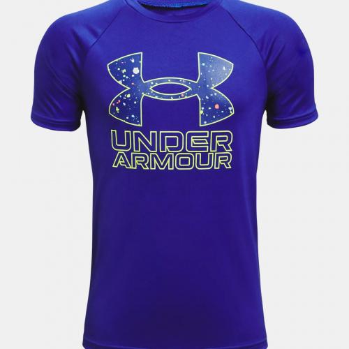 Clothing - Under Armour Boys UA Tech Hybrid Print Fill T-Shirt 3281   Fitness