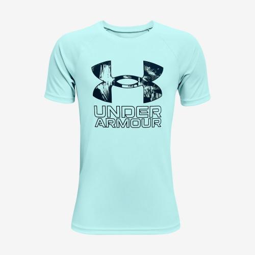 Clothing - Under Armour Boys UA Tech Hybrid Print Fill T-Shirt 3281 | Fitness