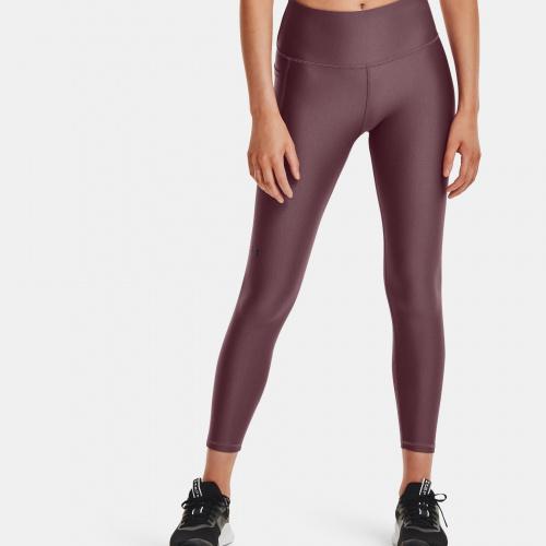 Clothing - Under Armour HeatGear Armour No-Slip Waistband Geo Ankle Leggings | Fitness