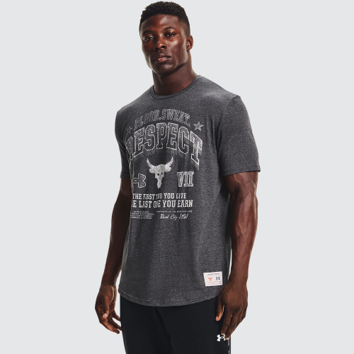 Clothing - Under Armour Project Rock BSR Short Sleeve   Fitness