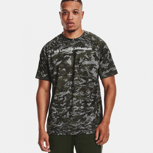 Clothing - Under Armour UA Tech ABC Camo Short Sleeve 1698 | Fitness