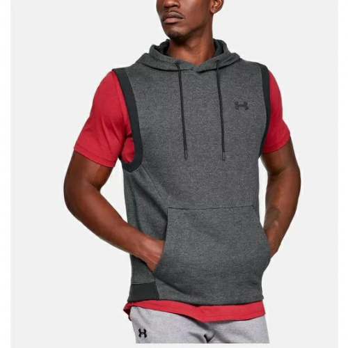 Clothing - Under Armour Unstoppable Double Knit Sleeveless Hoodie 1115 | Fitness