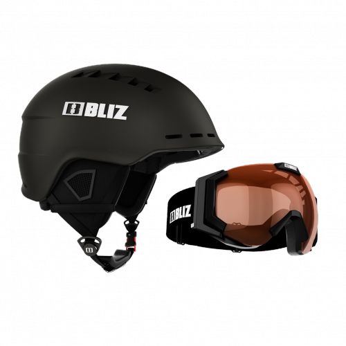 Ski & Snow Helmet -   bliz HEAD COVER + CARVER CONTRAST | snow gear