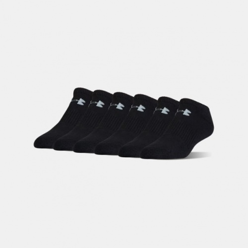 Accessories - Under Armour Charged Cotton 2.0 No Show Socks-6-Pack | Fitness