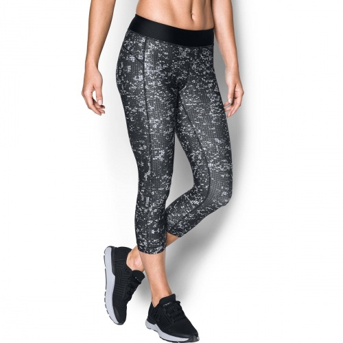 Clothing - Under Armour HeatGear Armour Printed Capri 7906 | Fitness