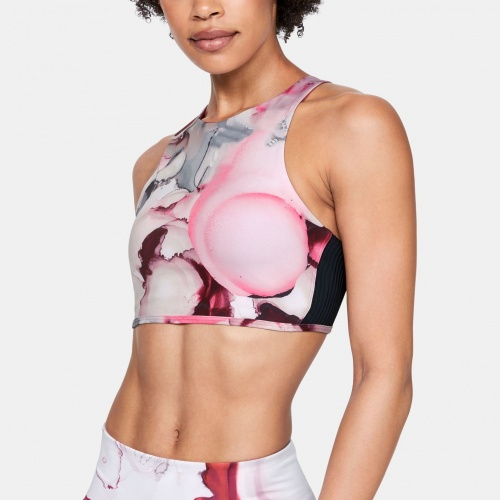 Clothing - Under Armour UA Breathelux Carved Rib Print Bra 1925 | Fitness