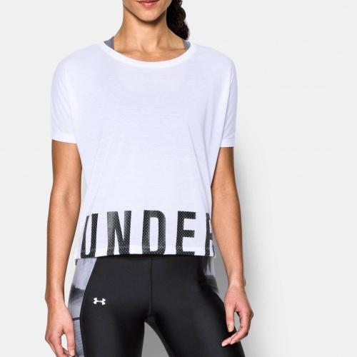 Clothing - Under Armour Wordmark Hem Cropped Shirt | fitness